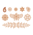 henna flowers and paisley vector image