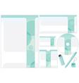 Corporative Design Template vector image vector image