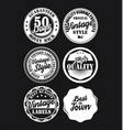black and white vintage labels collection 5 vector image