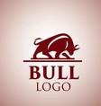 bull logo 4 vector image