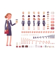 Businesswoman character creation set vector image