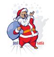 cartoon funny santa vector image