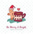 christmas cute gingerbread man holiday cartoon vector image
