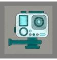 flat shading style icon technology camcorder vector image