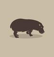 image of an hippopotamus vector image