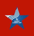 Labor day logo label vector image