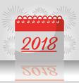new year 2018 calendar firewoks celebration vector image