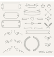 Set geometric elements info graphic labels vector image