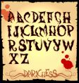 Spooky lettering vector image