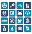 Flat Car and transportation icons vector image vector image