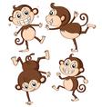 Four monkeys vector image vector image