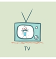 people on TV vector image vector image