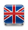 Metal icon of United Kingdom vector image