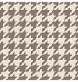 Houndstooth tile brown pattern or background vector image