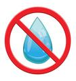 No Water drop sign icon vector image vector image