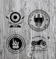 Set of labels motorbike shop vector image