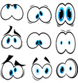 cartoon eyeballs vector image vector image