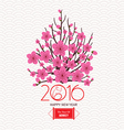 Chinese Lunar New Year with Japanese plum blossom vector image