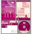 Business brochure architecture design vector image