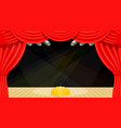 cartoon theater theater curtain beams of vector image