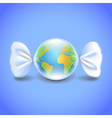Globe like candy environment concept vector image