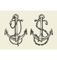Hand drawn nautical anchor vector image
