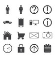 human activity monochrome icons set vector image