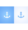 Icon with Iron Anchor vector image