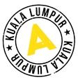 Kuala Lumpur stamp vector image