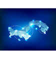Panama country map polygonal with spot lights vector image