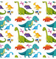 seamless background with many dinosaurs vector image