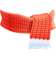 Winter Hand Knitted Scarf Flat Pictogram vector image