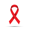 Red ribbon isolated on white background vector image