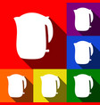 electric kettle sign  set of icons with vector image