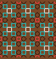 brown turkish ornamental ceramic tile vector image