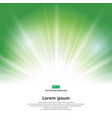 Sunlight effect sparkle on green background vector image