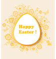 Easter background with orange flowers vector image vector image