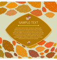 Autumn thanksgiving frame with copyspace vector image