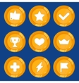 cartoon gamification badges vector image