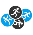 Running Men Icon vector image