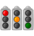 cartoon traffic lights set vector image