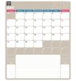 English calendar 2017 vector image