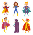 funny childrens superheroes boys and girls in vector image