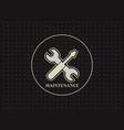 maintenance logo icon design vector image