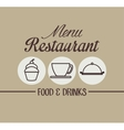 menu restaurant cover icon vector image