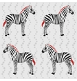 Zebra pattern with flower stripes vector image