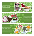Set of Horizontal Banners about Thailand vector image