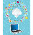 Cloud computing network concept vector image vector image