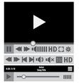 web player design elements vector image
