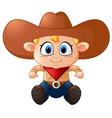 Cute young cowboy vector image